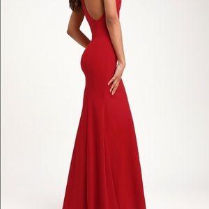 Lulu's SEXY SUMMER RED MAXI DRESS M L XL 💃🏿